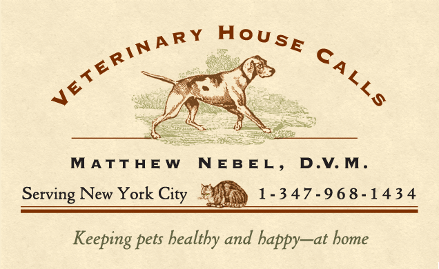 Dr. Matthew Nevel, D.V.M. housecalls 1-347-968-1434